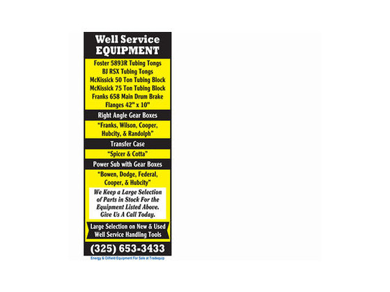 FOSTER Well Service Equipment -