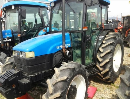 2003 HOLLAND TN75DA wheel tractor