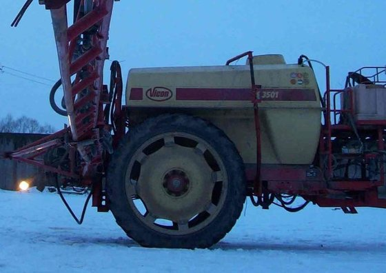 VICON trailed sprayer in Ukraine