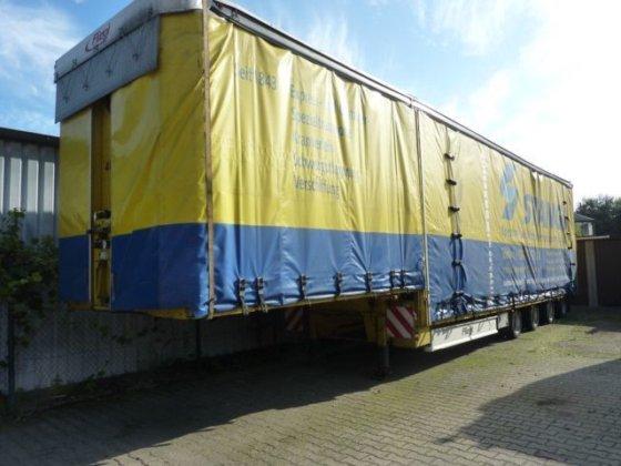 2004 ESGE 4-Achs-Satelauflieger,-Höhen+Verbreitbar, tilt semi-trailer