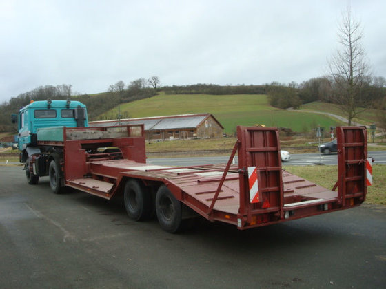 1966 GASSMANN low bed semi-trailer