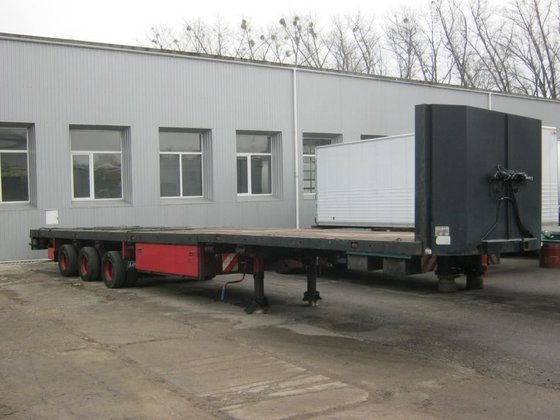 2002 KEMPF SKM platform semi-trailer