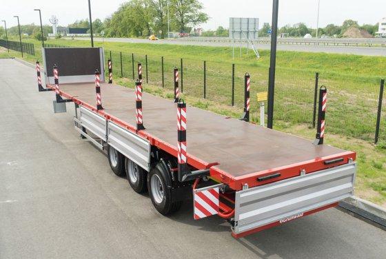 GRUNWALD Flatbed semitrailer NORD-ALLROAD flatbed