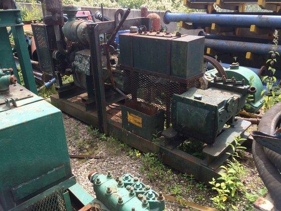 Boyles triplex pump motor pump