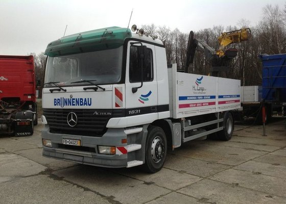 2001 MERCEDES-BENZ 1831 flatbed truck