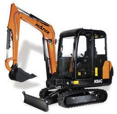 HANIX H26C mini digger in