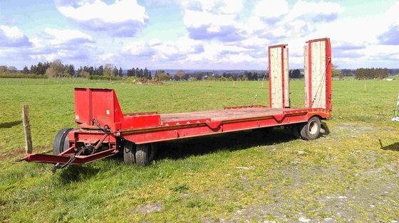 1989 GHEYSEN low loader trailer