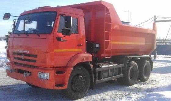 KAMAZ 65115 dump truck in