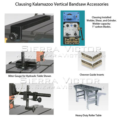 CLAUSING Vertical Bandsaw Accessories in