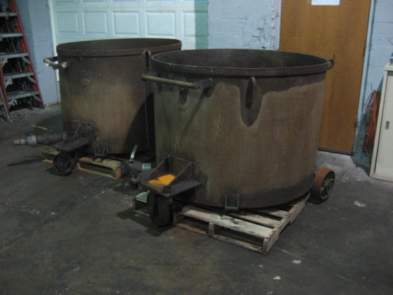 325 gallon Tubs, carbon steel,
