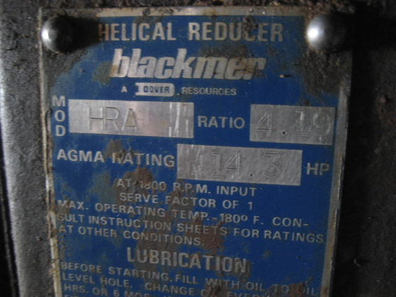 Blackmer Helical Gear Reducer. 2439