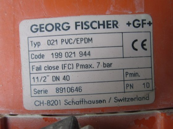 Georg Fisher Diaphragm Valves, Qty.9