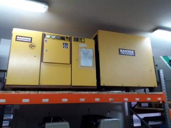 Atlas Copco and Kaeser compressor
