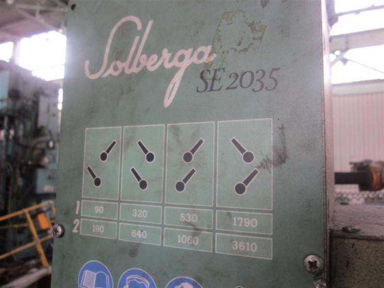 "Solberga SE2035 25"" SINGLE SPINDLE"