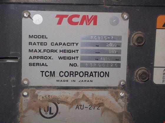 2007 TCM FCB15-7 Electric Electric