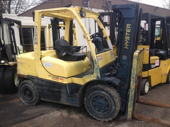 2008 Hyster H80FT Gasoline Pneumatic