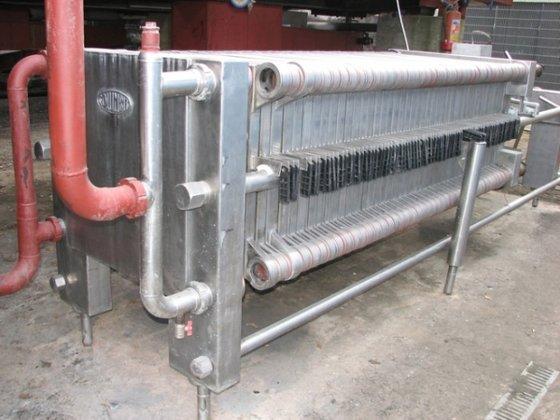 filterpress in stainless steel design