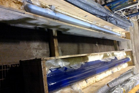 REGLASSED PFAUDLER FIN BAFFLE, FOR
