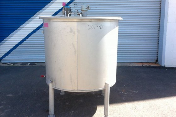 APPROXIMATELY 165 GALLON VERTICAL STAINLESS