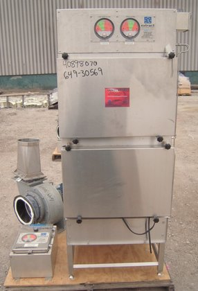 EXTRACT TECHNOLOGIES STAINLESS HEPA FILTER.
