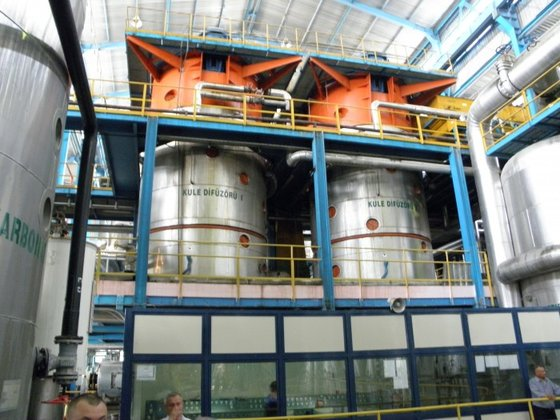beet processing plant with a