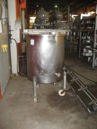APPROXIMATELY 110 GALLON STAINLESS STEEL