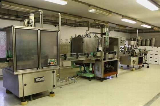 FILLING, CAPPING AND LABELLING LINE