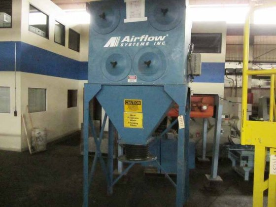 DC-8-RAD DUST COLLECTOR AIR FLOW