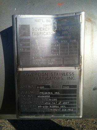 2001 200 GALLON HORIZONTAL INCONEL