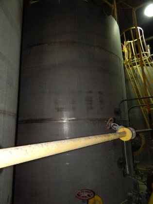 APPROXIMATELY 8,000 GALLON VERTICAL STAINLESS