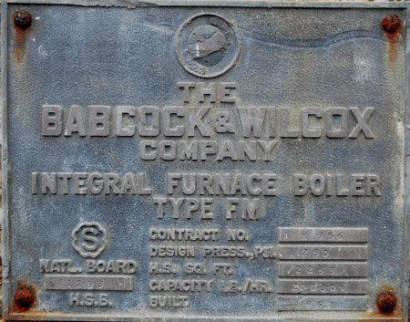 20,000#/HOUR BABCOCK & WILCOX, 250