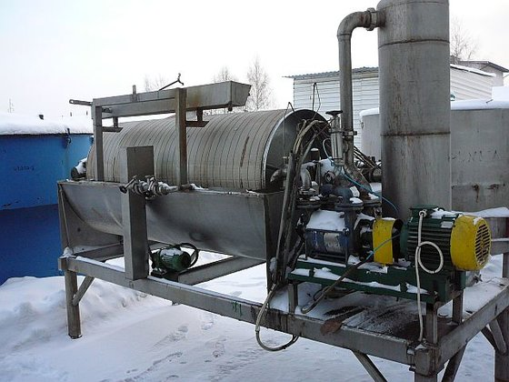 KRAUSS-MAFFEI rotating drum pre-coating vacuum
