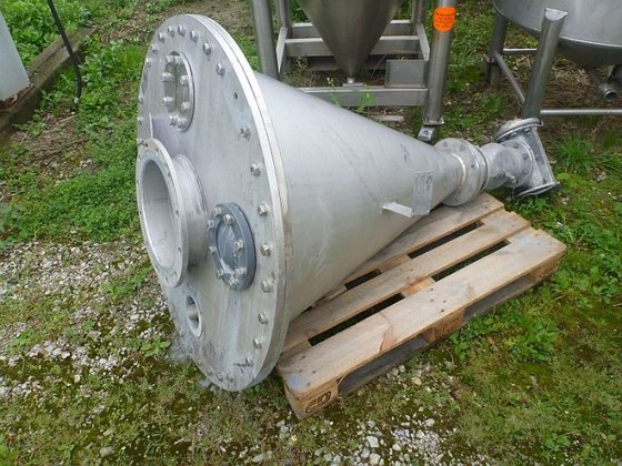 stainless steel conical powder hopper