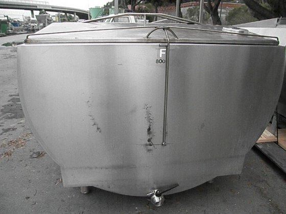 Tank, 800 Gallon, S/st, Horizontal,
