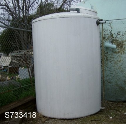 Tank, 1, 600 Gallon, FRP,