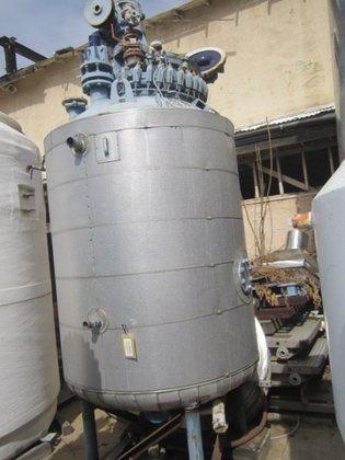 Dedietrich Reactor, 500 Gallon, G/L,