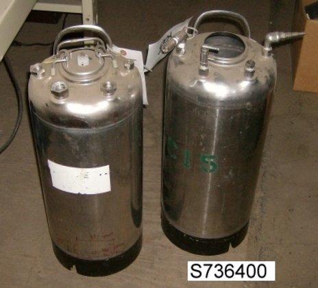 Millipore Tank, 5 Gallon, S/st,