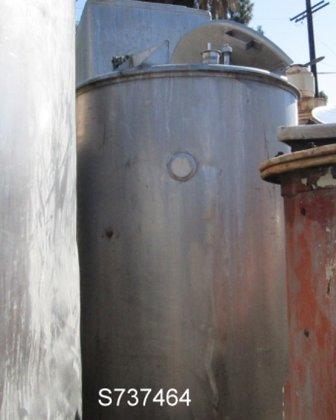 Tank, 650 Gallon, S/st, 4'