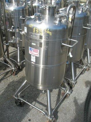 Stainless Fabrication Tank, 35 Gallon,