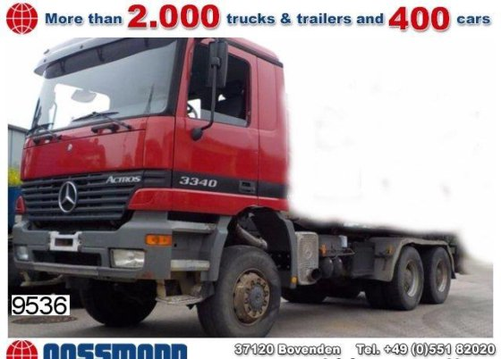 1999 Mercedes-Benz Actros 3340AK 6x6 chassis # 9536 in Bovenden, Germany