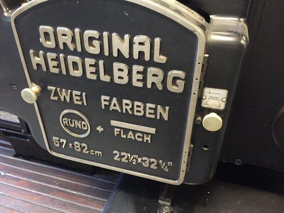 HEIDELBERG SBBZ, Letter Press in