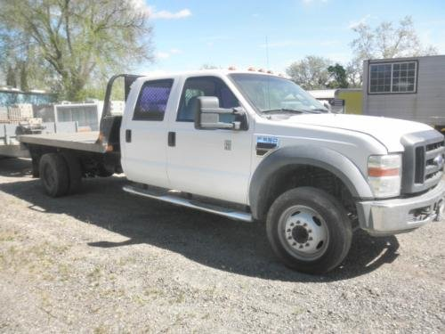 2008 FORD F550XLT CREW/FLATBED in