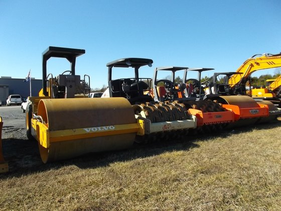 HAMM and VOLVO ROLLERS Compactors
