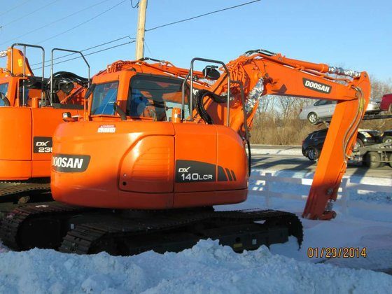 2013 Doosan DX140LCR-3 Excavators in