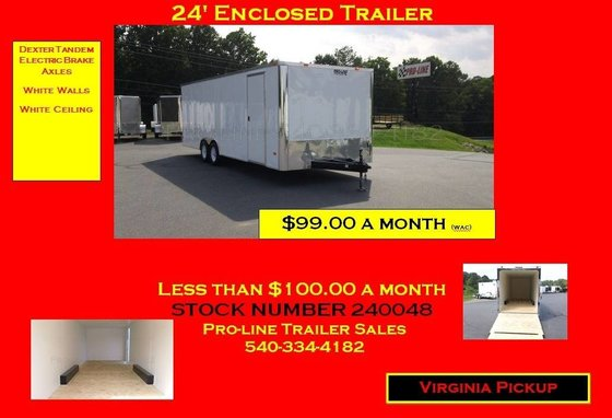 8.5 x 24 Enclosed Trailer