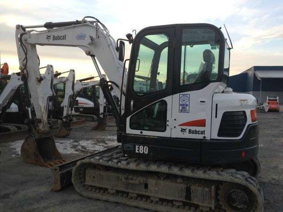 2013 Bobcat E80 Excavators in