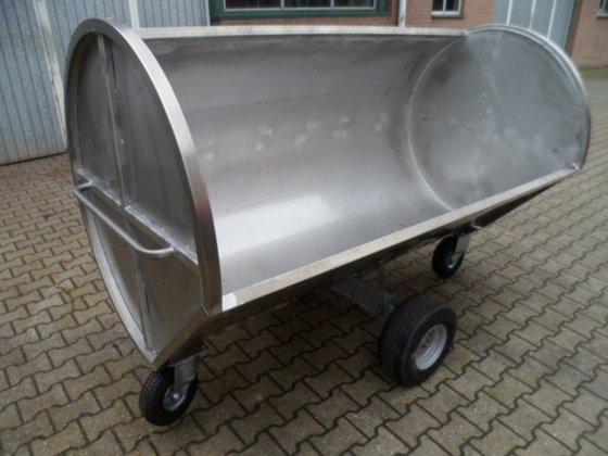 Horsmans RVS mestwagen in Klimmen,