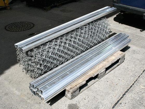 Maschendrahtzaun verzinkter Stahl 25m Rolle