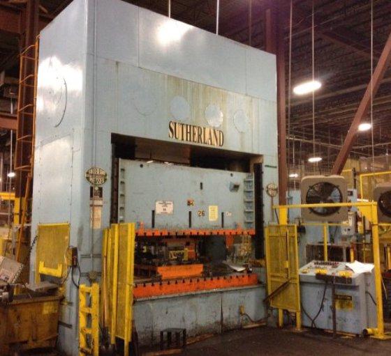 "276 Ton Sutherland FDP-250-120-72, 12""Str,"