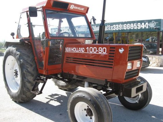 Fiat 100 90 Tractor : Fiat agricultural tractors in campania italy
